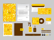Corporate identity template for your business includes CD Cover Stock Photos