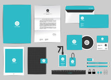 Corporate identity template for your business includes CD Cover Royalty Free Stock Image