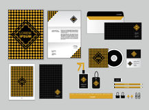 Corporate identity template for your business includes CD Cover Stock Images