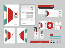 Corporate identity template for your business includes CD Cover Royalty Free Stock Photo