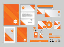 Corporate identity template for your business includes CD Cover Stock Image