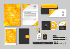 Corporate identity template for your business includes CD Cover, Business Card, folder, ruler, Envelope and Letter Head Designs N. O. 3 stock illustration