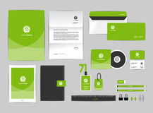 Corporate identity template for your business includes CD Cover Royalty Free Stock Images