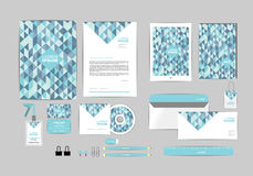Corporate identity template for your business P Stock Images