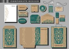 Corporate identity templates Royalty Free Stock Images