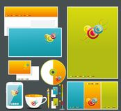 Corporate identity templates Stock Images
