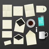Corporate identity templates. Stock Image