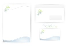 Corporate identity templates with DNA Stock Image
