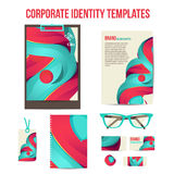 Corporate identity templates Royalty Free Stock Photography