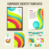 Corporate identity templates Stock Photos