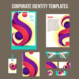 Corporate identity templates Stock Photos