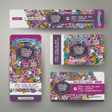 Corporate Identity templates set with doodles baby theme Stock Photo