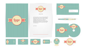 Corporate Identity Templates in Vector Royalty Free Stock Image