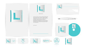 Corporate Identity Templates in Vector Royalty Free Stock Photo