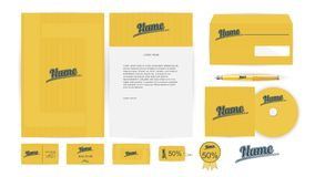 Corporate Identity Templates in Vector Stock Photos