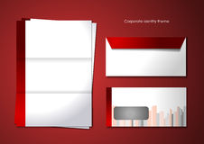 Corporate identity theme Stock Photography