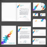 Corporate identity. Universal business style Stock Photo