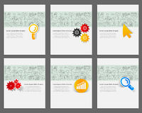 Corporate identity vector templates set  Stock Image