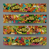 Corporate Identity vector templates set with doodles easter theme Stock Image