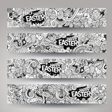 Corporate Identity vector templates set with doodles easter theme Royalty Free Stock Photography