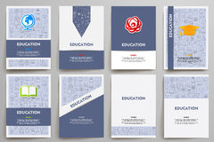 Corporate identity vector templates set with Royalty Free Stock Photography