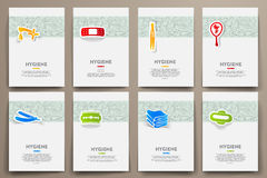 Corporate identity vector templates set  Royalty Free Stock Photography