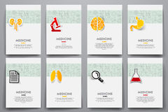 Corporate identity vector templates set with Stock Photo