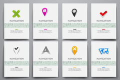 Corporate identity vector templates set with Royalty Free Stock Image