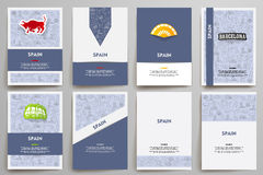 Corporate identity vector templates set with Royalty Free Stock Photos