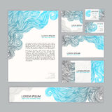 Corporate Identity with wave pattern Royalty Free Stock Image