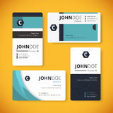 Corporate indentity business card template. Template design.. Vector stock Stock Photography