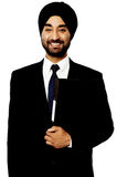 Corporate Indian guy over white Royalty Free Stock Image
