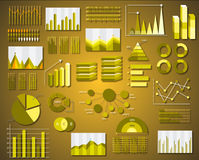 Corporate info graphics vector elements in flat business Royalty Free Stock Photo