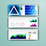 Corporate infographic template with color elements. Vector company business style for brandbook, report and guideline. Stationery Royalty Free Stock Photo