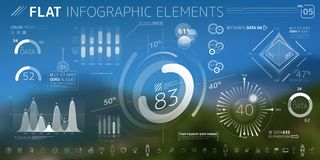 Corporate Infographic Vector Elements Collection. Corporate Infographic Elements is an excellent collection of vector graphs, charts and diagrams royalty free illustration