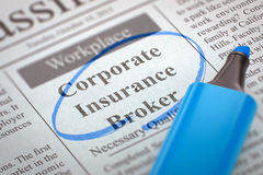 Corporate Insurance Broker Join Our Team. 3D. Stock Images
