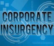 Corporate Insurgency Business Background. Text Corporate Insurgency written on a business theme background vector illustration