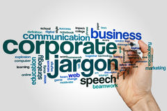 Corporate jargon word cloud Royalty Free Stock Images