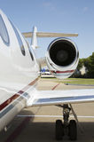 Corporate Jet Engine Stock Photography