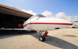 Corporate Jet in for maintenance Royalty Free Stock Photo