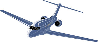 Corporate jet plane Royalty Free Stock Photos