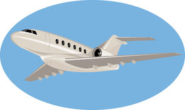 Corporate jet plane Stock Photo