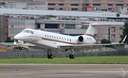 Corporate jet on take off Royalty Free Stock Photos