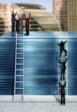 Corporate ladder - blue version Royalty Free Stock Photos