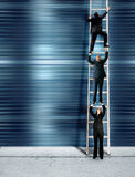 Corporate ladder - blue version Royalty Free Stock Image