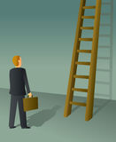 Corporate Ladder Businessman Royalty Free Stock Images