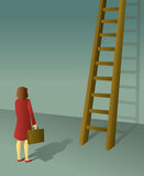 Corporate Ladder Businesswoman Stock Photography