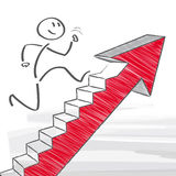 Corporate Ladder. Figure climbs corporate ladder - illustration vector illustration