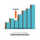 Corporate Ladder Stock Image