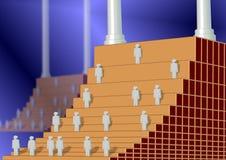Corporate ladders Stock Photo